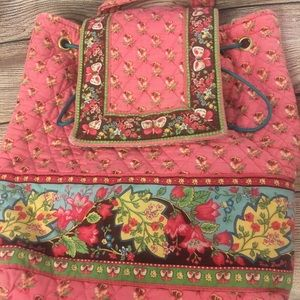Vera Bradley Pink pansy with butterflies backpack